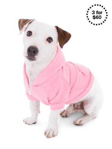 Neon Heather Pink Flex Fleece Dog Zip Hoodie