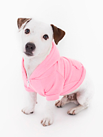 Neon Heather Pink Flex Fleece Dog Zip Hoodie