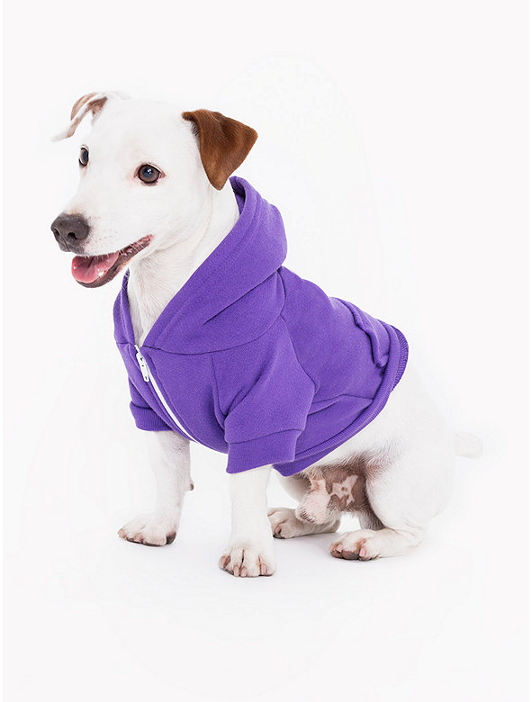 Purple Flex Fleece Dog Zip Hoodie