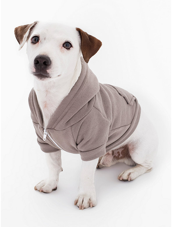 Pewter Flex Fleece Dog Zip Hoodie