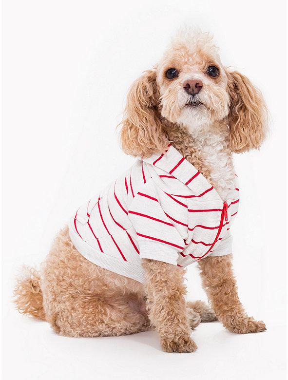 Striped Flex Fleece Dog Zip Hoodie
