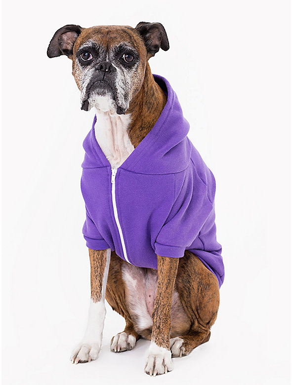Purple Flex Fleece Dog Zip Hoodie (XL-2XL)