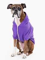 Purple Flex Fleece Dog Zip Hoodie (XL-2XL)