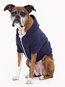 Navy Flex Fleece Dog Zip Hoodie (XL-2XL)