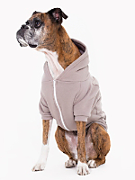 Pewter Flex Fleece Dog Zip Hoodie (XL-2XL)