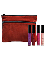 Lip Gloss and Make-Up Bag Set