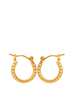 14Kt Gold Plated Earring Pair - 3D Swirl Hoop 517-038