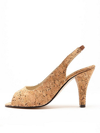 Cork High Heel Slingback