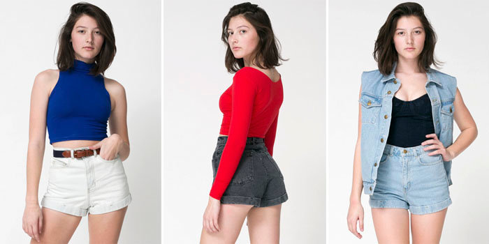 High Waisted Shorts | American Apparel