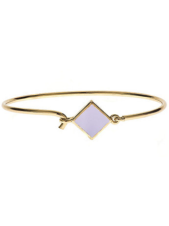 Hinged Wire Bracelet with Lilac Clasp