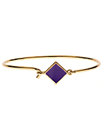 Hinged Wire Bracelet with Purple Clasp
