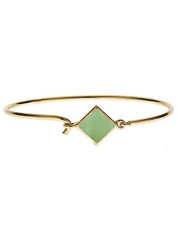 Hinged Wire Bracelet with Spring Green Clasp