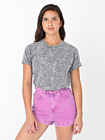 Unisex Acid Wash Short Sleeve Hammer T-Shirt
