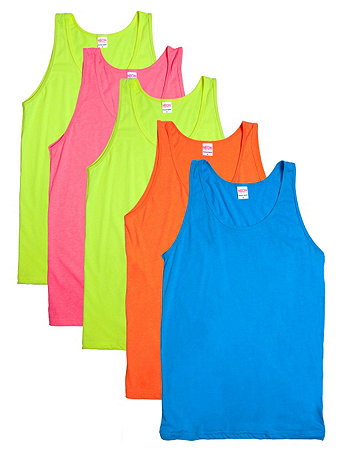 Not-So-Perfect Unisex Neon Poly-Cotton Tank (5-Pack)