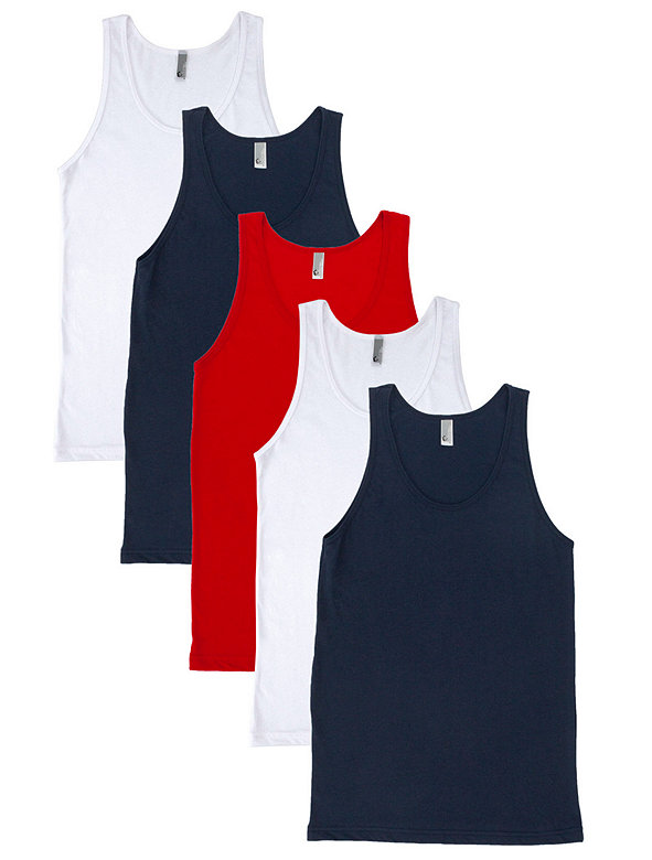 Not-So-Perfect Unisex Poly-Cotton Tank (5-Pack)