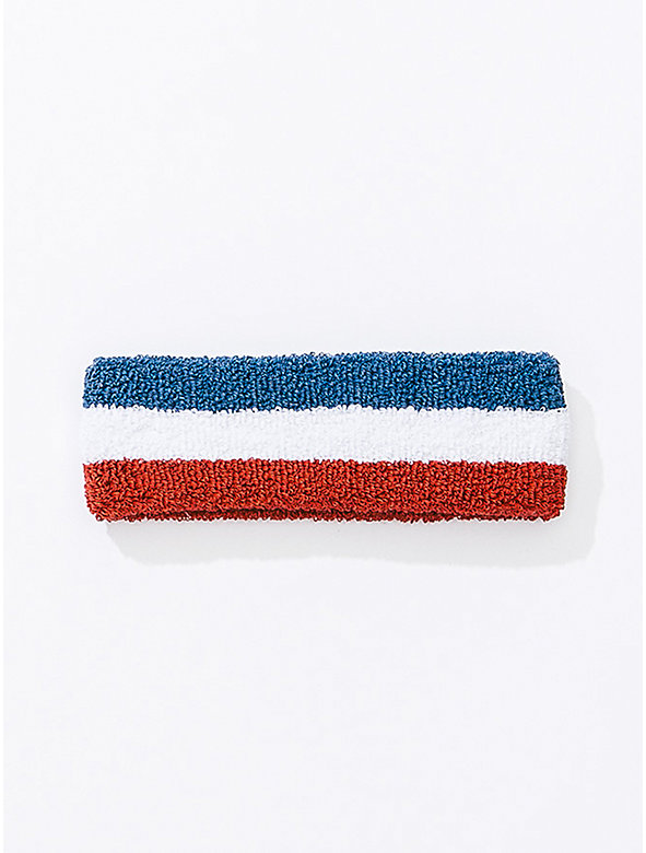 US Stripe Flex Terry Headband