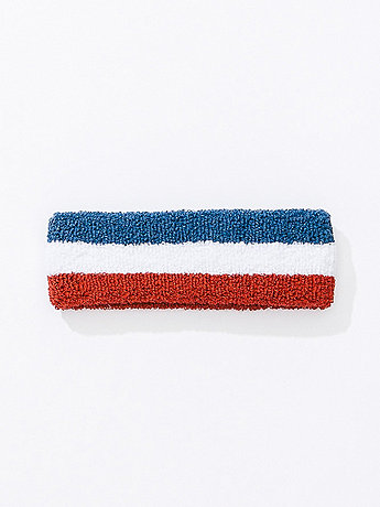 US Stripe Unisex Flex Terry Headband