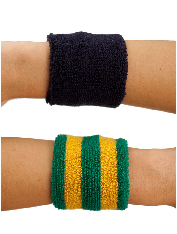 Unisex Flex Terry Wristband(2-Pack)