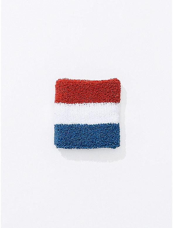 US Stripe Unisex Flex Terry Wristband