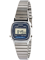 LA670WE-A2E Casio Silver & Navy Ladies Digital Watch