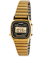 LA670WGA-1DF Casio Gold & Black Ladies Digital Watch