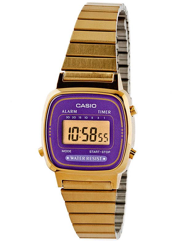 LA670WGA-6 Casio Gold & Purple Ladies Digital Watch