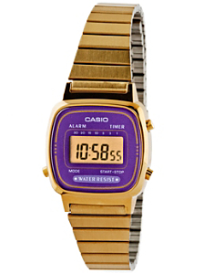 LA670WGA-6 Casio Gold & Purple Ladies Digital Watch