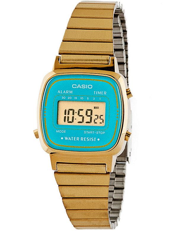 LA670WGA-2 Casio Gold & Teal Ladies Digital Watch