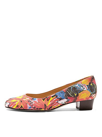 Le Jardin Print Leslie Pump Canvas Shoe