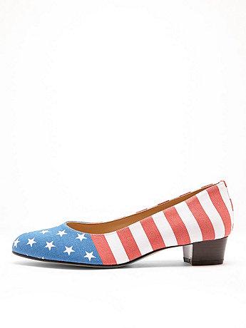 American Flag Print Leslie Pump Shoe