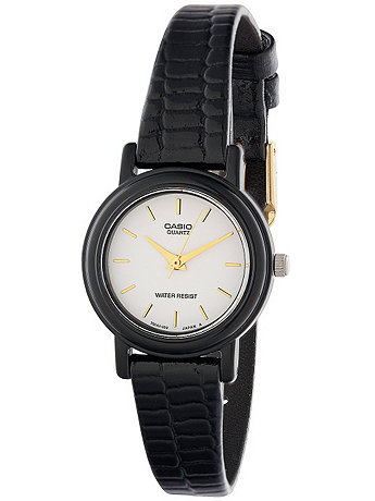 LQ-139E-7ALE Casio Black Leather Ladies Analog Watch