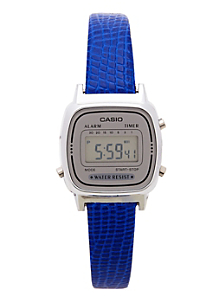 Lizard Blue Leather Limited Edition Wristwatch LA670WA-7D