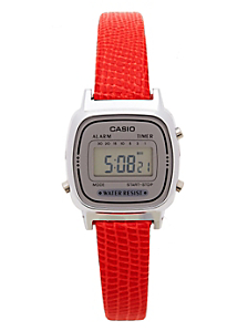 Lizard Red Leather Limited Edition Wristwatch LA670WA-7D