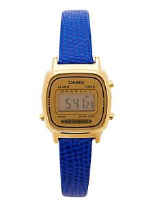 Lizard Blue Leather Limited Edition Wristwatch LA670WG-9D