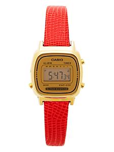 Lizard Red Leather Limited Edition Wristwatch LA670WG-9D