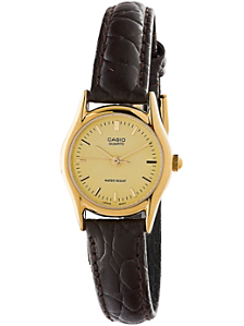 LTP1094Q-9A Casio Brown Leather Ladies Analog Watch