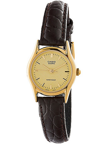 LTP1094Q-9A Casio Brown Leather Ladies Analog Watch