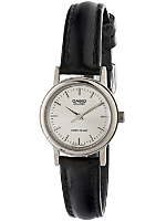 LTP-1095E-7A Casio Black Leather Ladies Analog Watch