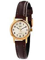 LTP1095Q-9B1 Casio Brown Leather Ladies Analog Watch