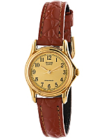 LTP1096Q-9B1 Casio Camel Leather Ladies Analog Watch