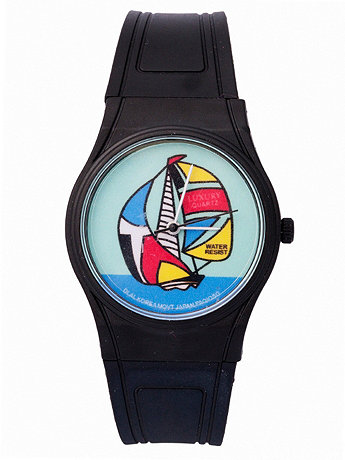 Luxury Sail Boat Resin Analog Watch