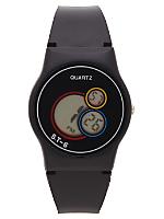 Black Luxury Circles Wristwatch