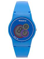 Blue Luxury Circles Wristwatch