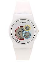 White Luxury Circles Wristwatch