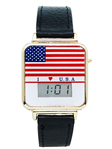 Luxury Flag Digital Wristwatch