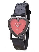Black & Red Luxury Heart Wristwatch