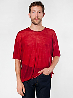 Oversized Ringer See Thru T-Shirt