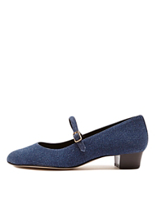 Mary Jane Pump Denim Shoe