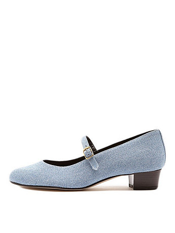 Mary Jane Pump Denim Shoe