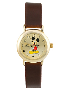 Mickey Mouse Brown Leather Watch